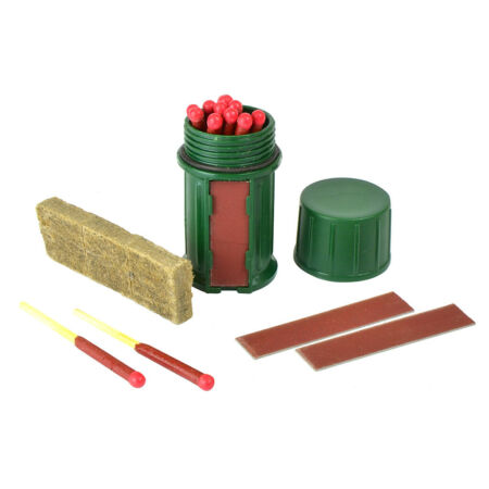 img-Outdoor Survival Matches UCO Firestarter Kit With 12 Hurricane Matches Green