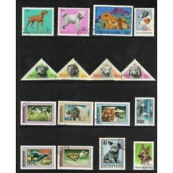 Kyпить 140 Diff Dogs (Canine, Domestic, Animals, Pets) on Used Stamps   26 Countries на еВаy.соm