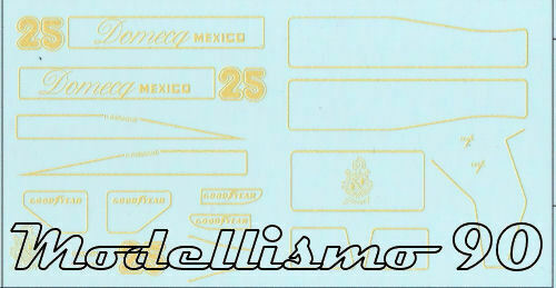 ItalieDecal sheet 1/43 Lotus 78 F.1 Ford #25  GP 1978 Hector Rebaque- NEW