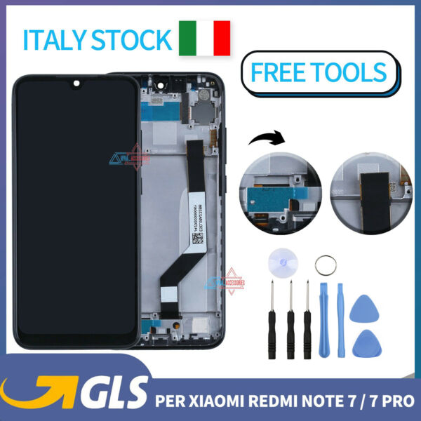LCD PER XIAOMI REDMI NOTE 7 TOUCH SCREEN SCHERMO M1901F7G M1901F7H DISPLAY FRAME