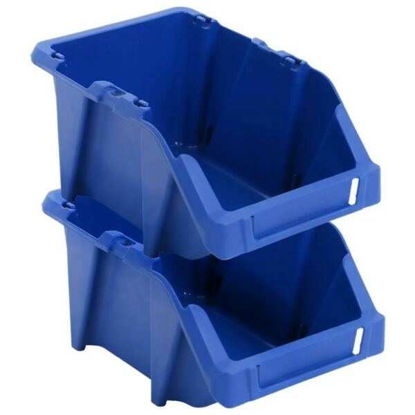 Stackable Plastic Parts Bins Pack of 20 Storage Boxes Garage Picking Box Bin UK