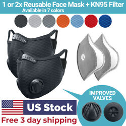 Kyпить Cycling Face Mask with Activated Carbon Filter Valves Sports Reusable 1 & 2 Pack на еВаy.соm