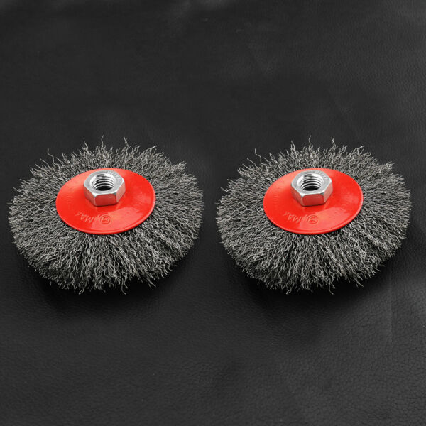 Royaume-Uni2pcs M14 Cup Twist Knot Crimp Steel Wire Wheel Brush for Angle Grinder