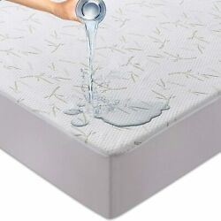 Kyпить Waterproof Mattress Protector Bamboo Hypoallergenic Breathable Fitted Bed Cover на еВаy.соm