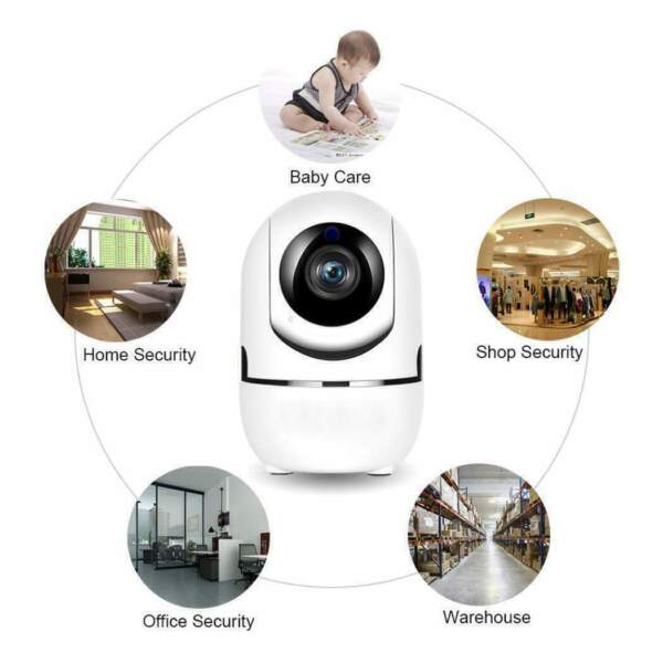 Wireless Telecamera HD 1080P WiFi IP Camera MOTORIZZATA RETE INTERNET 360 IR