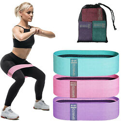 Kyпить Fabric Cloth Resistance Booty Bands Loop Set of 3 Exercise Workout Gym Fitness на еВаy.соm