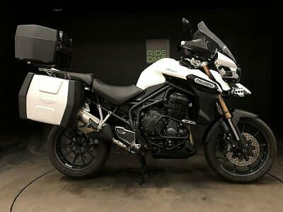 TRIUMPH EXPLORER 1215. 2015. FSH. 17895 MILES. H GRIPS AND SEAT. RUNNING LIGHTS