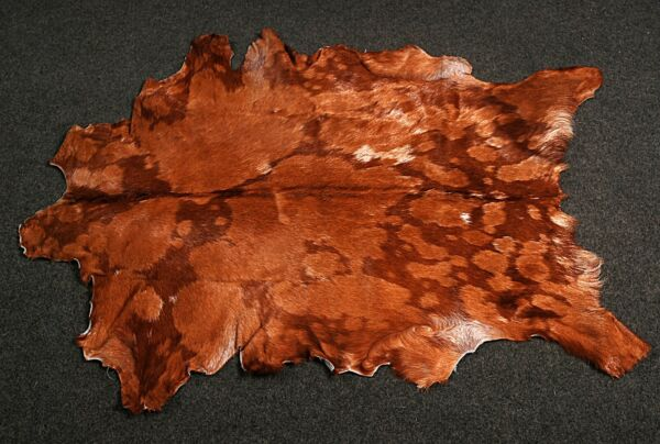 Royaume-UniNew Goat hide Rug Hair on Area Rug Size 37