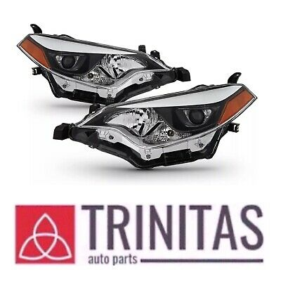 For 2014-2016 Toyota Corolla Headlights Headlamps Aftermarket Left+Right