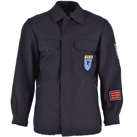 img-ORIGINAL NVA EAST GERMAN ARMY JACKET FORMAL UNIFORM DARK BLUE MILITARY SURPLUS