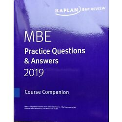 **BRAND NEW**  2019 - 2020 Kaplan Bar Review  MBE Questions & Answers