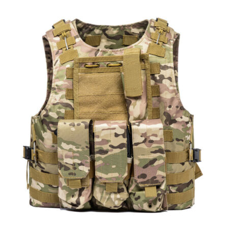 img-Unisex Tactical Military Vest Molle Combat Army Assault Plate Carrier Airsoft UK