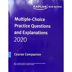* BRAND NEW * 2020-2021 Kaplan PMBR MBE Practice Questions & Answers