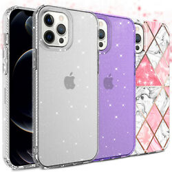 For iPhone 12 Pro Max,Mini 5G Case Luxury Clear Bling Shockproof Slim TPU Cover