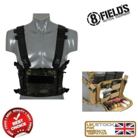 img-MILITARY ARMY SPECIAL OPS TACTICAL CHEST RIG VEST BK/MORO AIRSOFT M51611057-MB