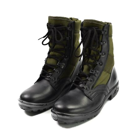 img-ORIGINAL GERMANY ARMY BOOTS TROPICAL BLACK OD GREEN BALTES MILITARY SURPLUS NEW