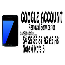 Kyпить Google Account (FRP) Remove Service for Samsung  A3 A5 A7 S5 S6 S7 Note 4 Note 5 на еВаy.соm