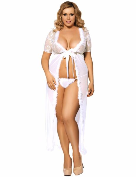 AllemagneSuzanjas Night Gown with Thong L - XXL Lingerie Sexy  Negligee