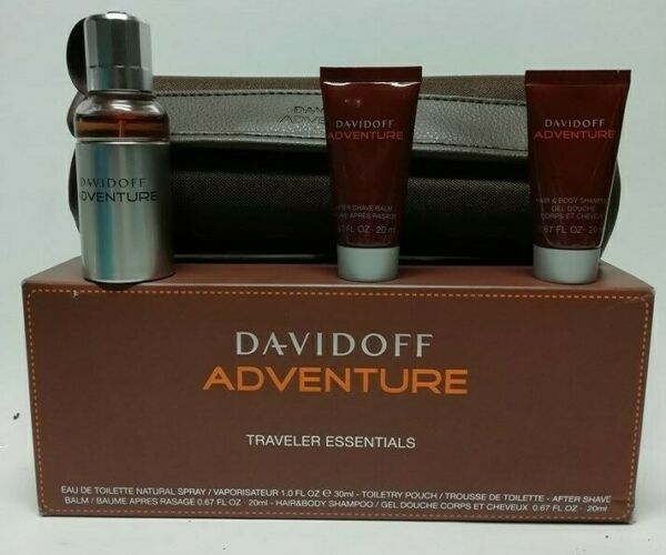 EspagneDavidoff Adventure EDT 30 ML  + Gel 20 ML + Baume Neuf & Rare