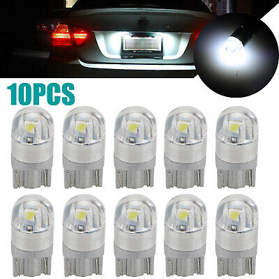 10X 6000K Canbus T10 168 194 W5W Dome License Side Marker LED Light Bulb White