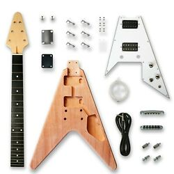 Kyпить DIY Electric Guitar Kits for Flying V Electric Guitar, okoume Body на еВаy.соm