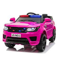 Kyпить 12V Kids Electric Police Car Ride On Car SUV Truck Toys with Remote Control Pink на еВаy.соm