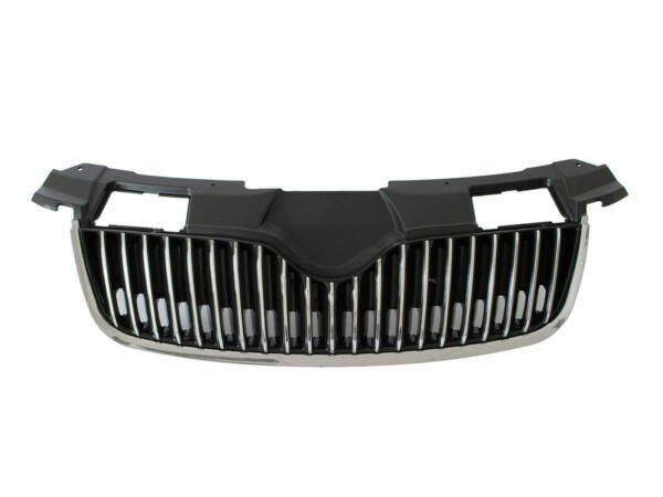 AllemagneCalandre Sport Grill Grille Barbecue Chrome Pour Skoda Fabia 2 II 2007-2010