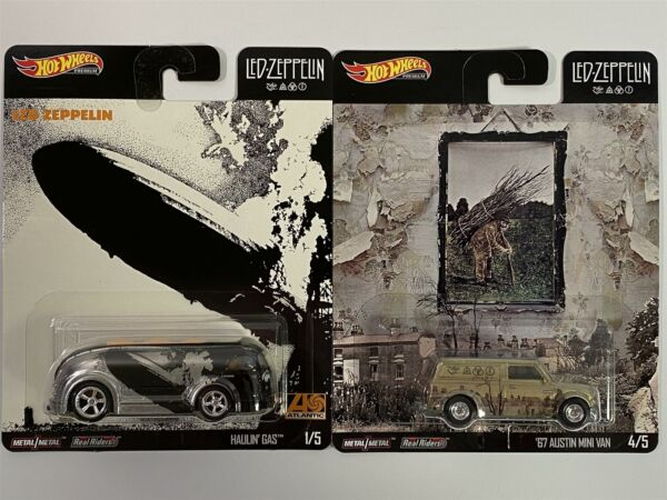 Royaume-UniLED Zeppelin Hot Wheels Pop Culture Real Riders 2 Voiture Set DLB-946E 1:64