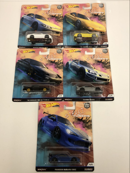 Royaume-UniRue Tuners Real Riders Hot Wheels Ensemble De 5 Neuf FPY86