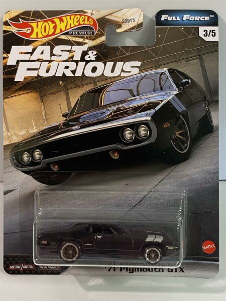 Royaume-UniFast And Furious 1971 Plymouth GTX Complet Force Hot Wheels GJR42 Real Riders
