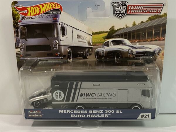 Royaume-UniÉquipe Transport Hot Wheels Real Riders Mercedes 300 Sl Euro Camion GJT43