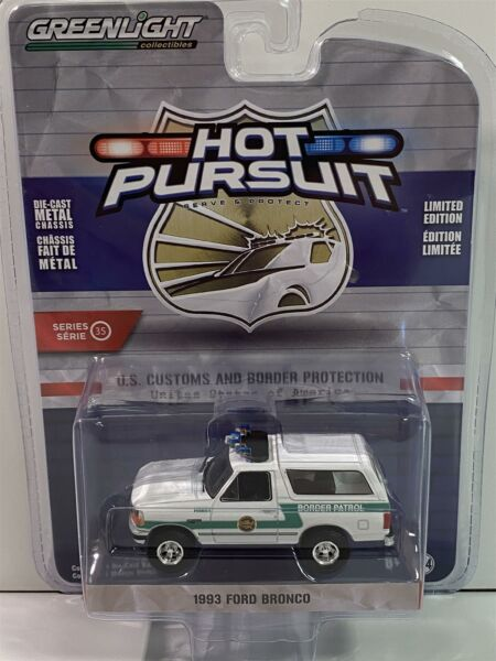Royaume-Uni1993 Ford BRONCO US Customs Et  Protection 1:64 Greenlight 42920D