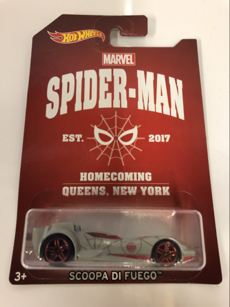 Royaume-UniHot Wheels Marvel Spiderman Scoopa Di Fuego DWD15 Neuf