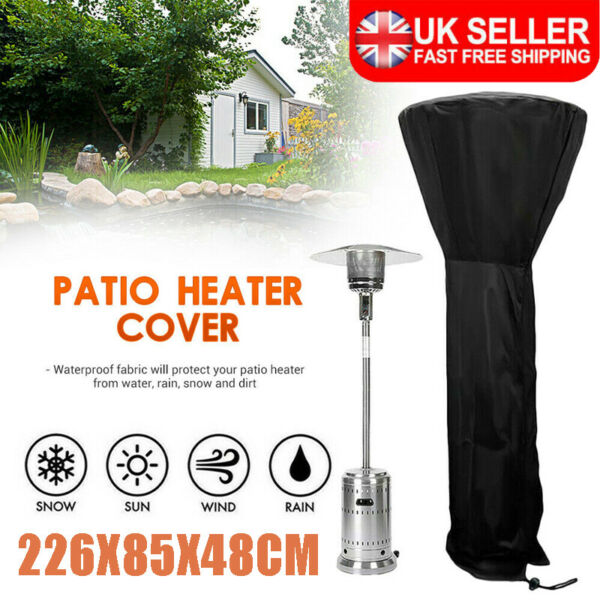 Royaume-UniLarge Outdoor Garden Patio Gas Heater Cover Protector Polyester Waterproof Black
