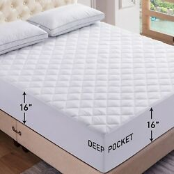Kyпить Mattress Pad Deep Pocket Cooling Breathable Topper Fitted Mattress Pad Protector на еВаy.соm