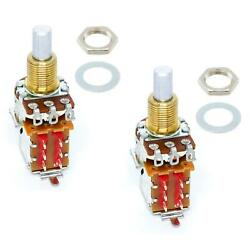 2 x Bourns 500K Audio Push-Pull Solid Shaft Pot ~ Coil Tap