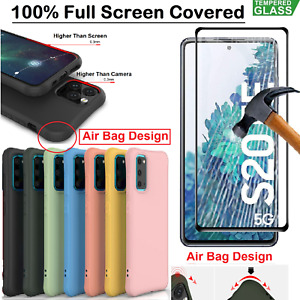 For Samsung Galaxy S20 FE Case S20 + Ultra Cover Tempred Glass Screen Protector