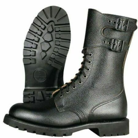 img-Genuine French Army Issue Combat Marbot Rangers Leather Hiking Boots Size 6 39