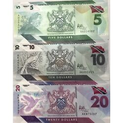 Kyпить Trinidad & Tobago Polymer Banknotes 2020 Series-USA Shipping ONLY на еВаy.соm