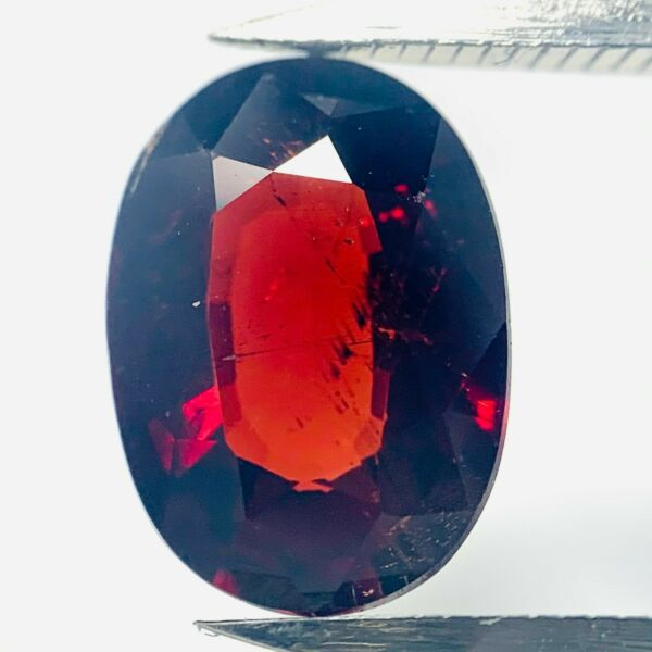AllemagneGenuine  Rouge Ovale Spessartine 3.06ct 10.3x7.4mm
