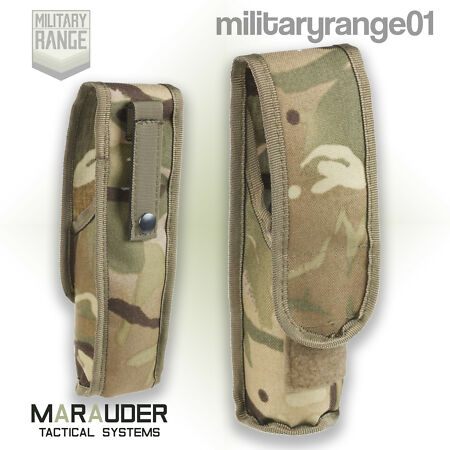 img-Marauder Angle-Head Torch Pouch - MOLLE - British Army MTP Multicam - UK Made