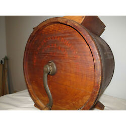 Kyпить Antique Wooden Cylinder Barrel Style Tabletop Butter Churn No. 2 Improved на еВаy.соm