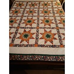 Kyпить Beautiful Patchwork floral stars Quilt ARCH QUILTS 84x82 hand made на еВаy.соm