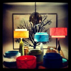 Kyпить Custom Pair of Mid Century Vintage Style 3 Tier Fiberglass Lamp Shades  на еВаy.соm