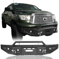 Kyпить  Powder Coated Front Bumper w/ Light & Winch Plate For 2007-2013 Toyota Tundra на еВаy.соm