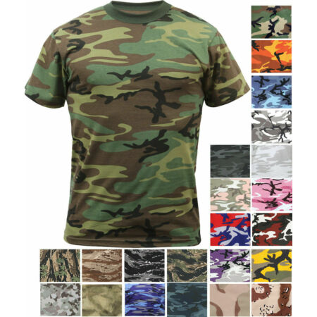 img-SALE Camo T-Shirt Tactical Tee Short Sleeve Military Army ROTHCO
