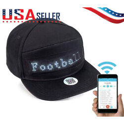 Animated Bluetooth Led Sign Hat Hip Hop Street Dance Party Parade Sunscreen Hiki