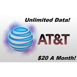 Kyпить UNLIMITED DATA AT&T PLAN - $20 / MONTH! на еВаy.соm