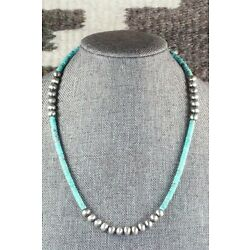 Kyпить Turquoise & Sterling Silver Necklace - Navajo на еВаy.соm