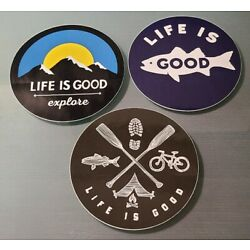 LIFE IS GOOD - New Stickers Decals - LOT OF 3